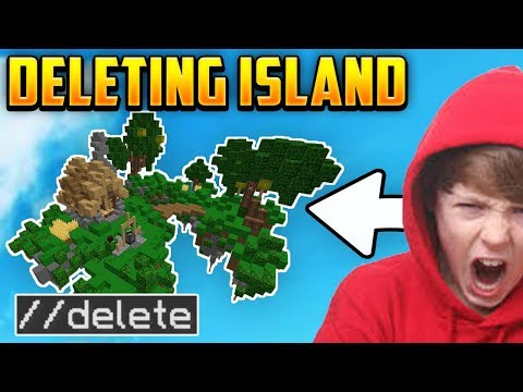 REMOVING Hackers Skyblock Island WITH WORLDEDIT! *IN CALL* (Minecraft Skyblock #3)