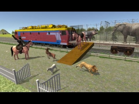 Angry Animals Train Transport Android Gameplay HD