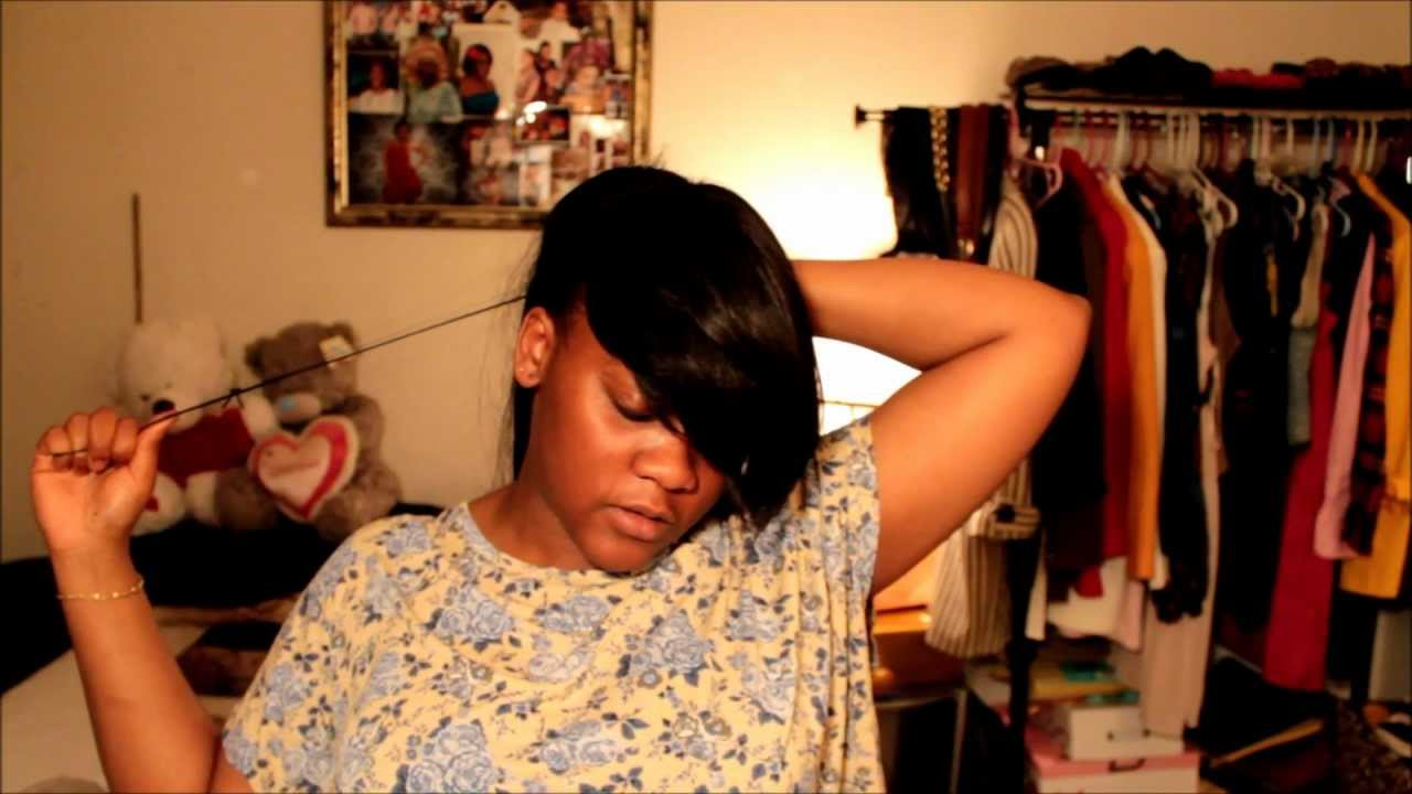 Hair Tutorial Side Bangs And Ponytail Youtube