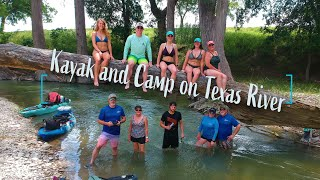 Overnight Kayak and Cąmp on Texas Hill Country River!
