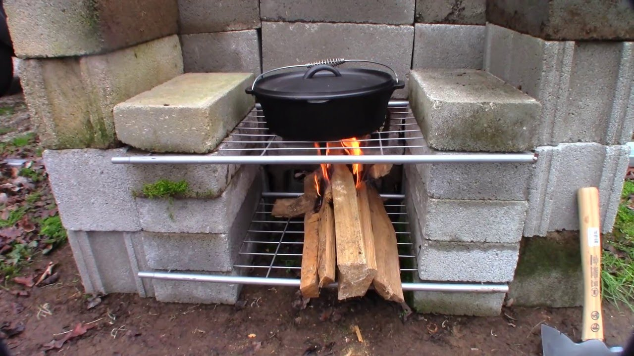 DIY Outdoor Fireplace Build (simple, easy and cheap) - YouTube on Diy Outdoor Fire id=18834