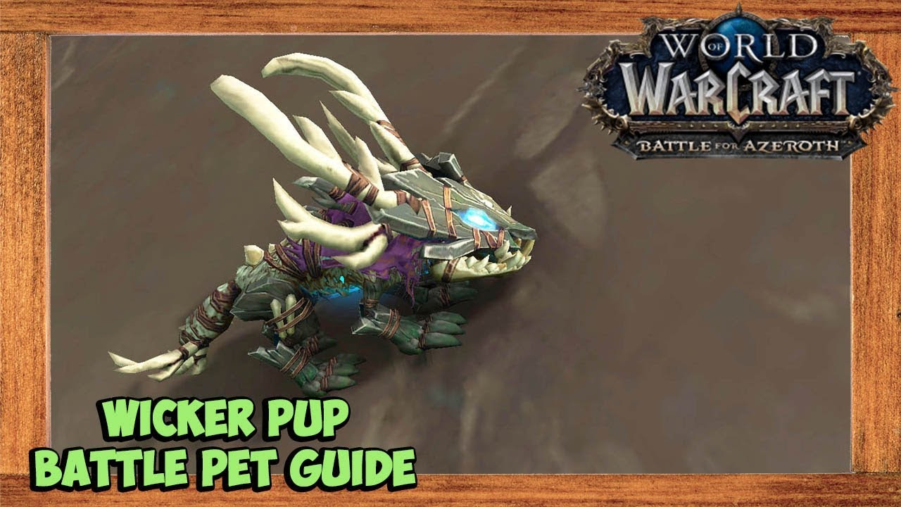 World Of Warcraft Wicker Pup Battle Pet Guide Youtube