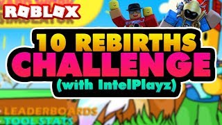 10 REBIRTHS CHALLENGE w/ THE OWNER!! (INTELPLAYZ) | Roblox Yard Work Simulator