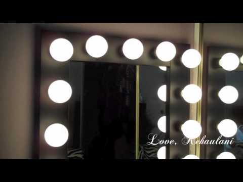 vanity girl hollywood lighted mirror youtube. Black Bedroom Furniture Sets. Home Design Ideas