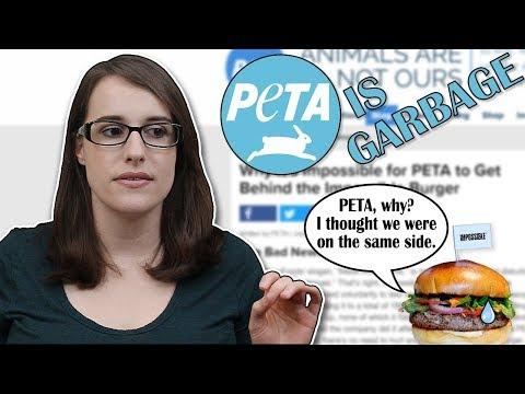 PETA Slams the Impossible Burger (PETA is Garbage Part 500)