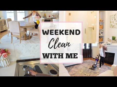 SATURDAY MORNING CLEANING ROUTINE - WEEKEND CLEAN WITH ME