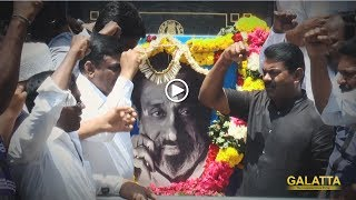 Seeman Pays Respect to Chevalier Sivaji Ganesan