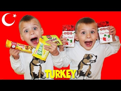Kids Try Foods From TURKEY! || Universal Yums