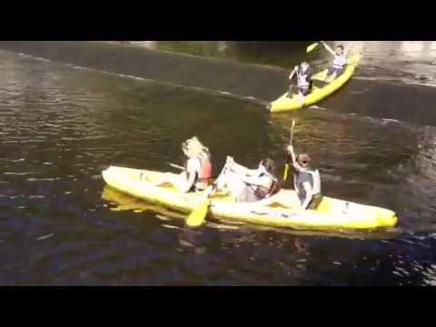 Ladies wet their pants in boat