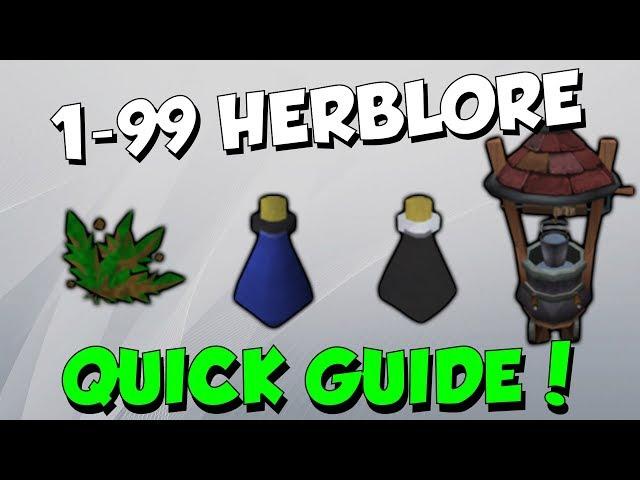 RuneScape Guide 1 99 Herblore Quick