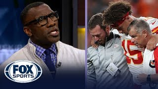 Patrick Mahomes suffers injury, Shannon Sharpe blames Andy Reid — FS1 crew reacts | FOX SPORTS