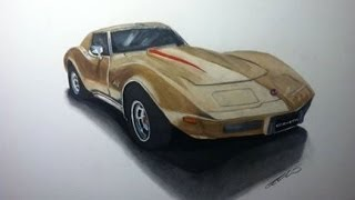 Drawing a Corvette Stingray Time-Lapse