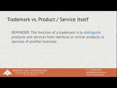 Introduction to Trademarks - Part 3 - Trademarks vs. Product Itself   Mincov Law Corporation