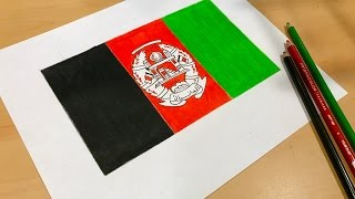 Afghan Flag Drawing 🇦🇫