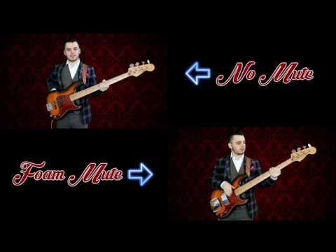 P BASS: FOAM RUBBER MUTE | Sound Comparison