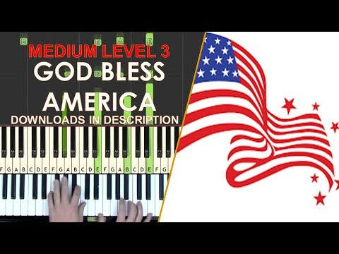 How to play God Bless America medium LEVEL 3 piano cover ...