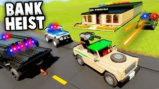 LEGO BANK HEIST! Epic Military Police Defense Against ROBBERS! (Brick Rigs Multiplayer Gameplay)
