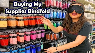 Buying My Art Supplies Blindfolded