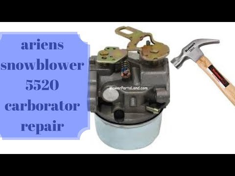 Ariens snowblower 5520 carburetor cleaning and or replace