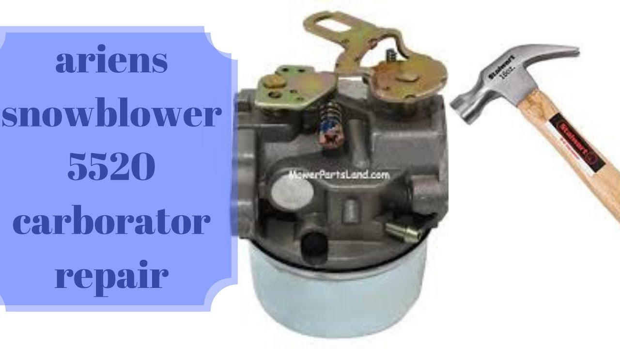 Ariens Snowblower 5520 Carburetor Cleaning And Or Replace Youtube Diagram