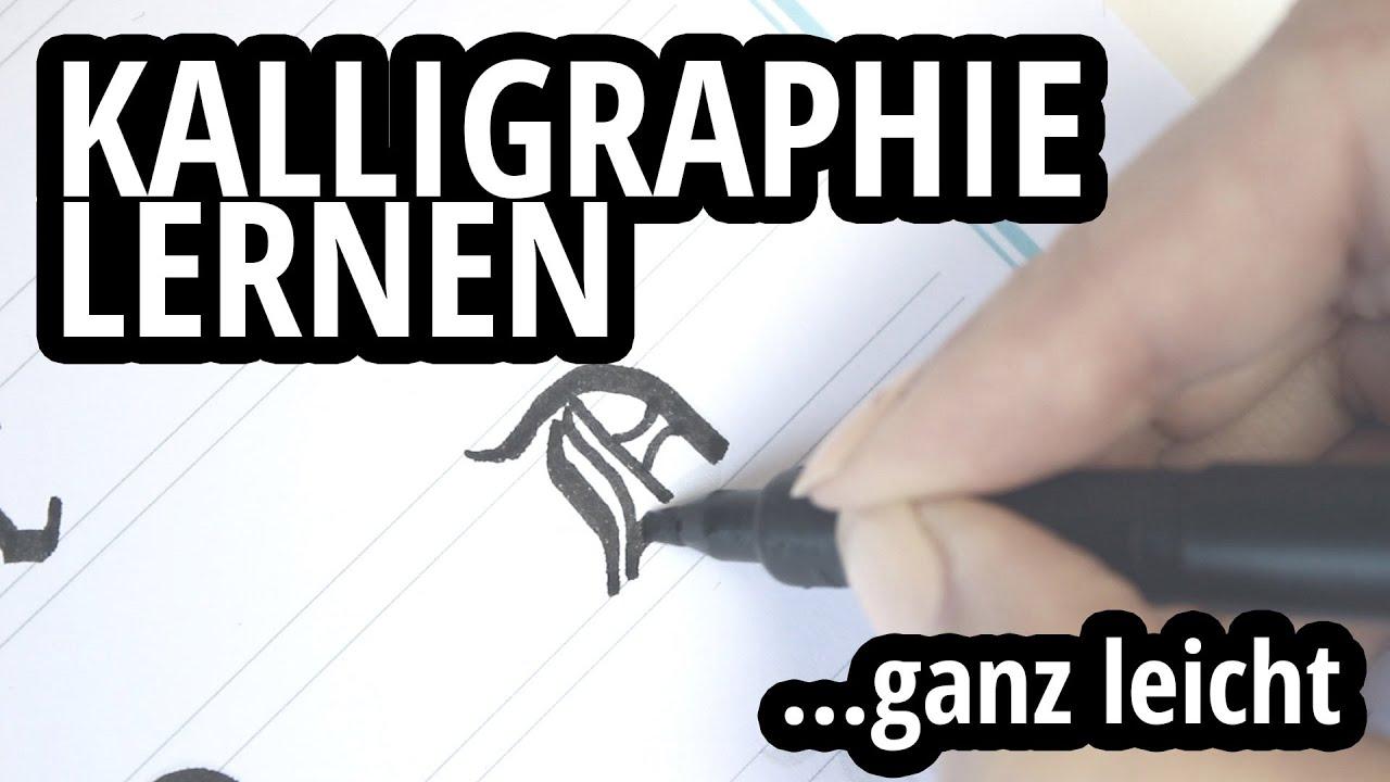 kalligraphie lernen ganz einfach der kalligraphie guide gotisch textur youtube. Black Bedroom Furniture Sets. Home Design Ideas