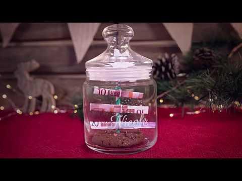 Geldgeschenk Zu Weihnachten Tannenbaum Im Keksglas Basteln Youtube