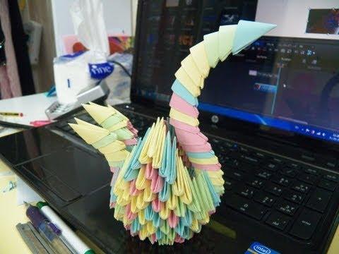 كيف تصنع وزة من الورق ؟