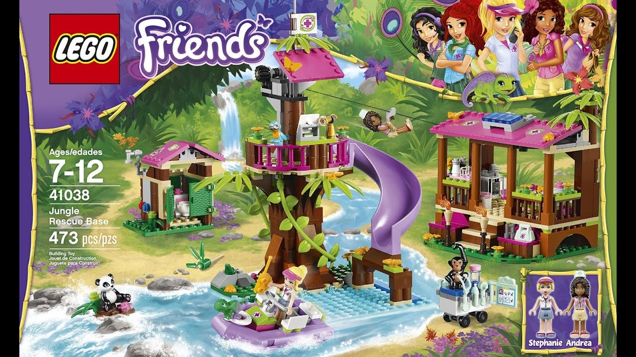 Lego Friends Rescue Jungle Base (41038): Unboxing and ...