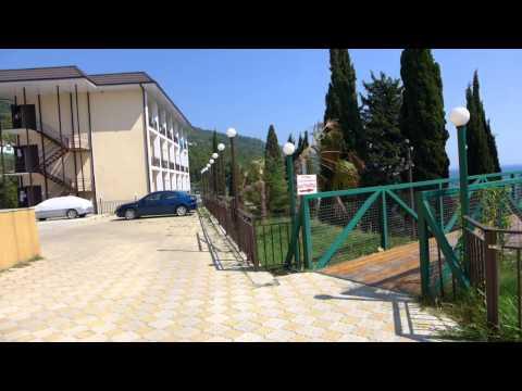 Пансионат Багрипш. Абхазия. выход на море. часть 1