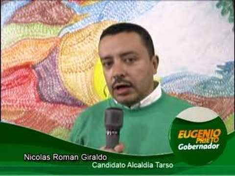 Nicolás Román Giraldo, candidato a la Alcaldía de Tarso