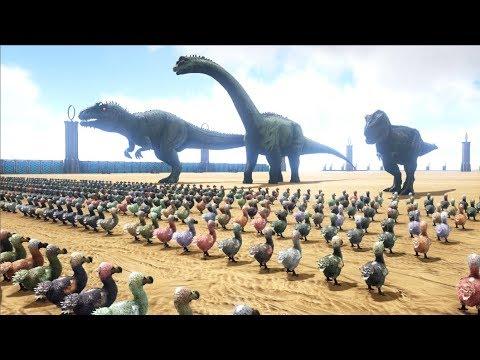 1000 Dodos VS ARK Dinosaurs | Cantex