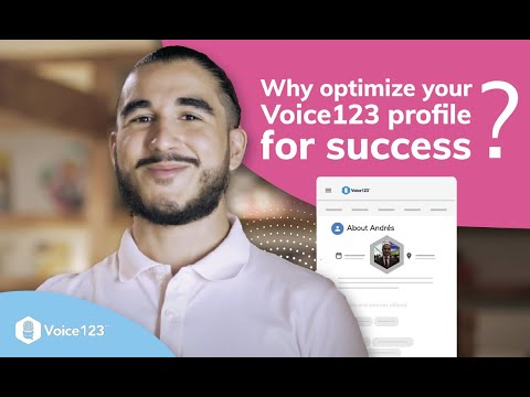 Why optimize Your Voice123 Profile for Success with SEO Engineer Andrés Zuleta