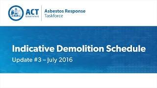 Demolition Schedule July 2016