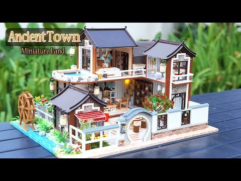 DIY Miniature Dollhouse Kit || Ancient Town ( With Full Furniture & Light )