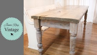How To Age A Farmhouse Table | Hand Scraped Look