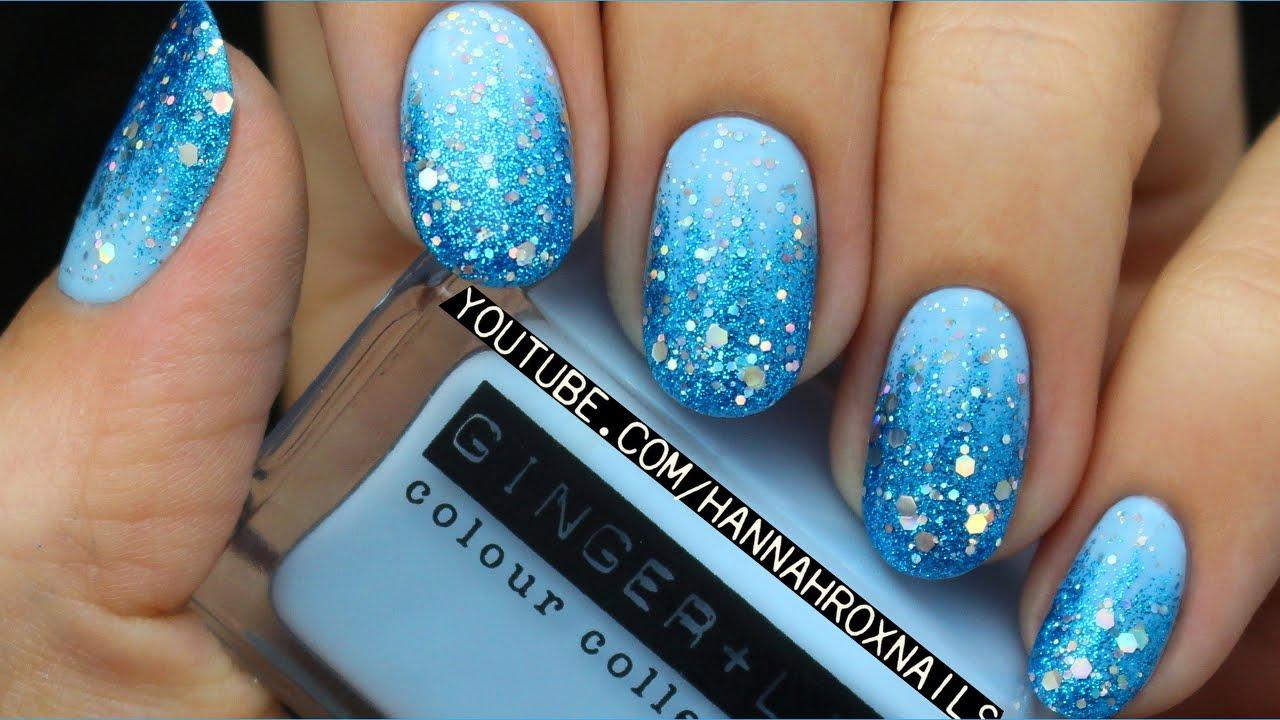disney's frozen elsa inspired nail