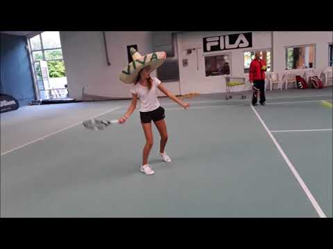 "Tennis Drills - Technical Training - ""The Sombrero Drill"""