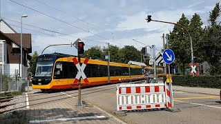 *2 Crossings and 2 Closures* Ettlingen Wasen (Rheinstraße) Level Crossing, Baden-Württemberg