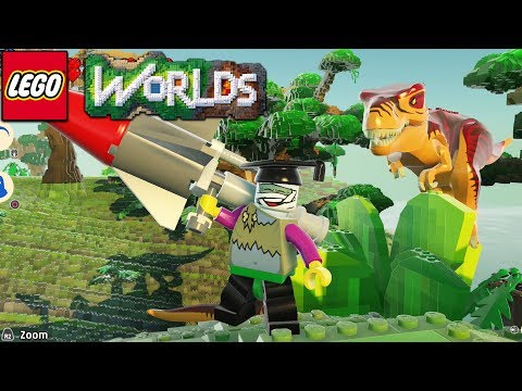 Lego Worlds - Shooting Dinosaurs With A Megazooka! [26]