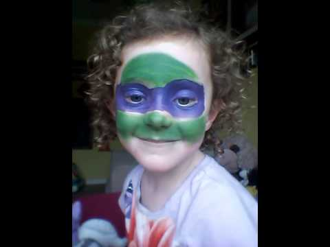 Turtle face painting teenage mutant ninja turtle f - YouTube