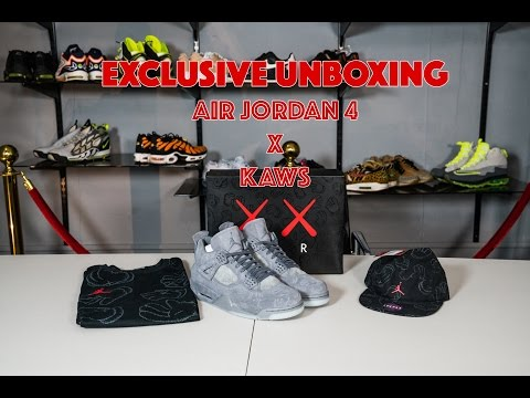 online retailer 20066 fa344 EXTREME HYPE  Exclusive unboxing AIR JORDAN 4 x KAWS. First pair in the UK  - YouTube