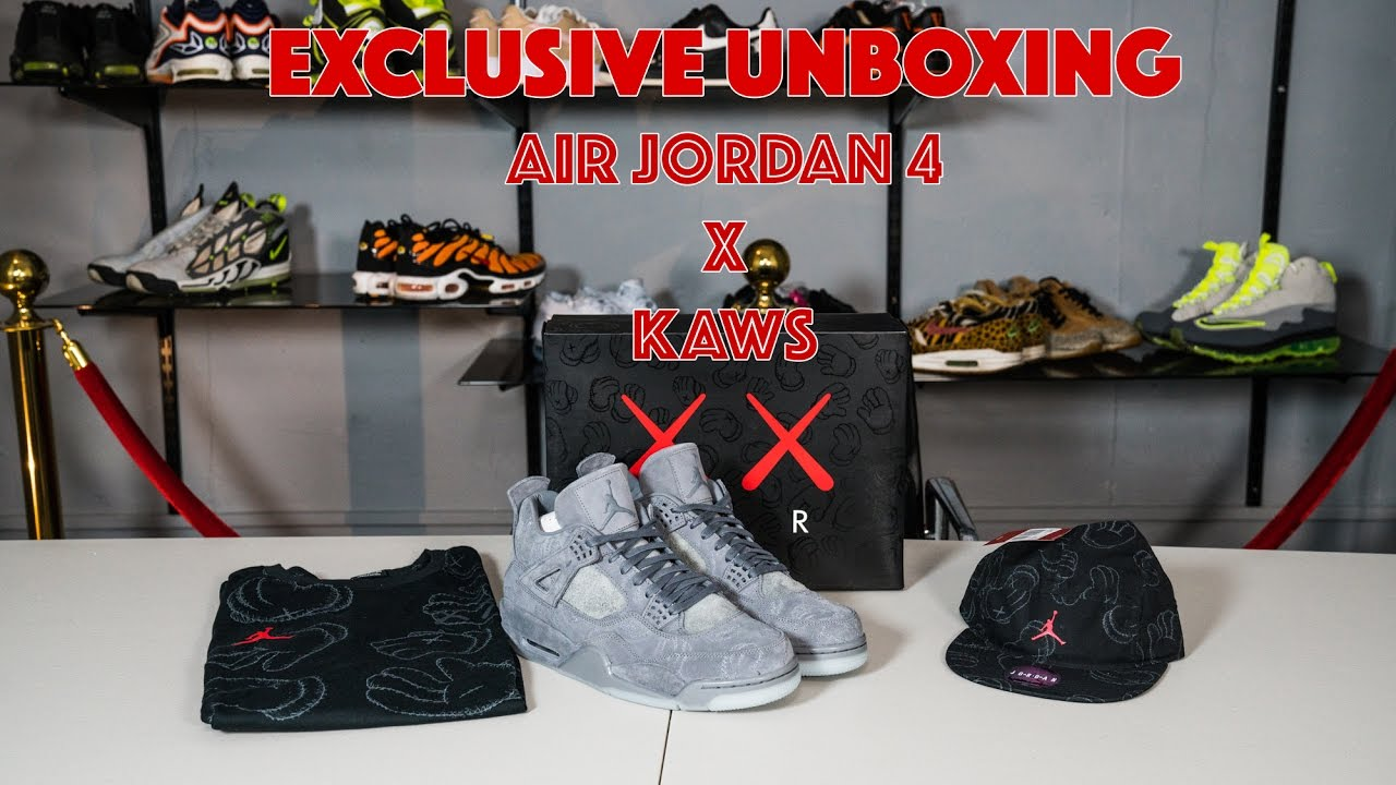 80594e614c2dbe EXTREME HYPE  Exclusive unboxing AIR JORDAN 4 x KAWS. First pair in the UK