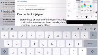Een email versturen met de iPad