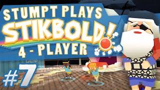 stikbold 7 98 degrees 4 player stikbold gameplay