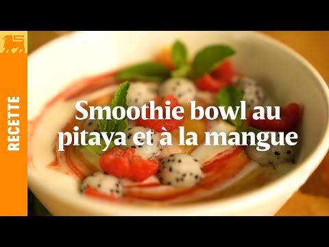 Smoothie Bowl au pitaya et à la mangue