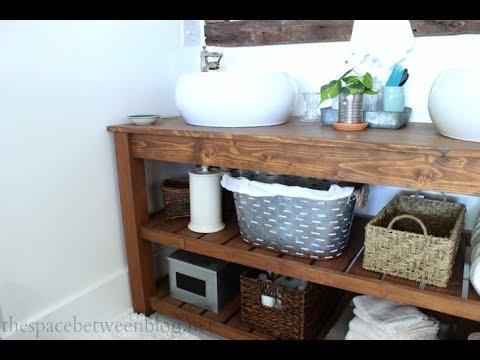 homemade bathroom vanity youtube. Black Bedroom Furniture Sets. Home Design Ideas