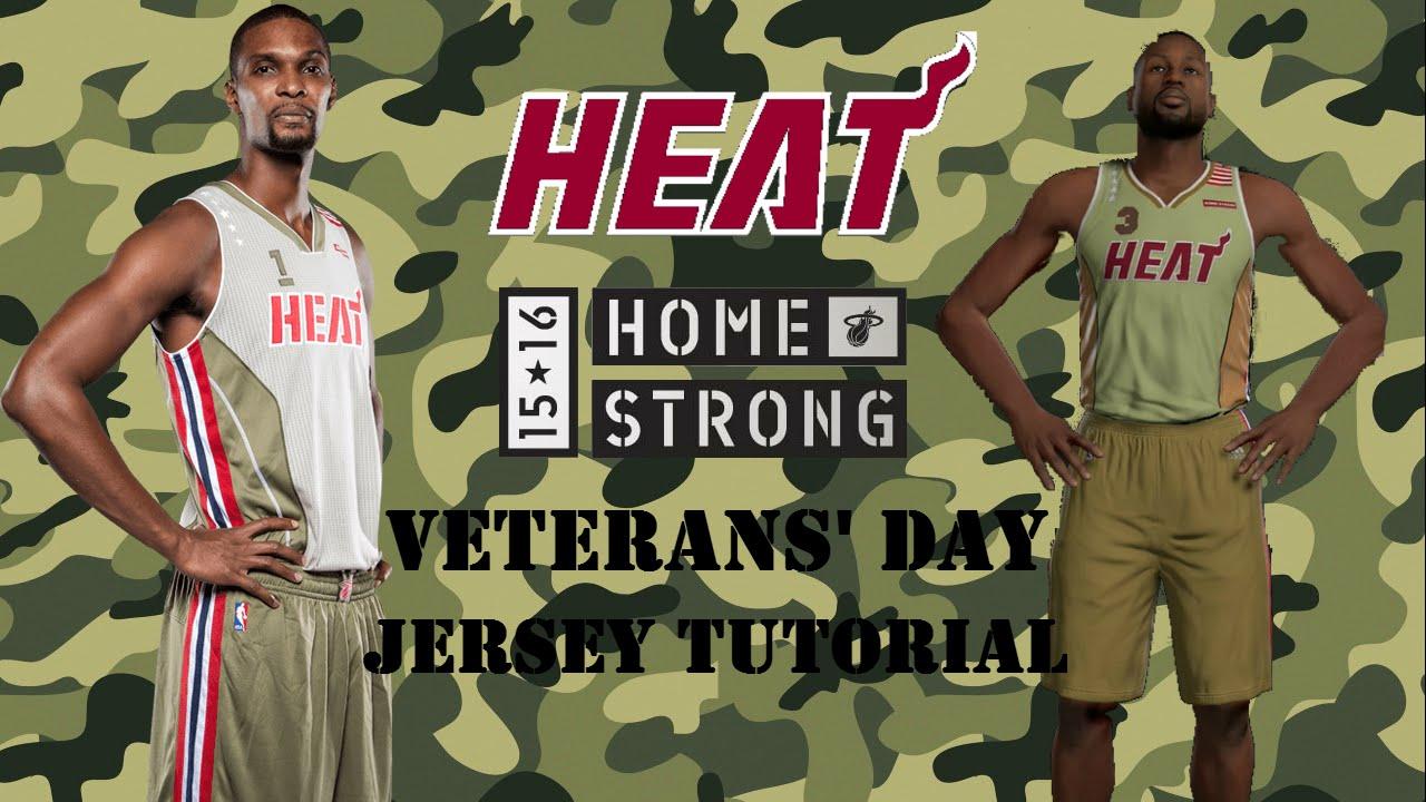 Miami heat christmas edition jersey heat christmas day jersey heat - Nba 2k16 Miami Heat Home Strong Veterans Day Jersey Tutorial Youtube