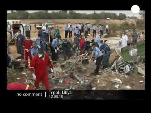 Plane crash in Lybia's Tripoli airport