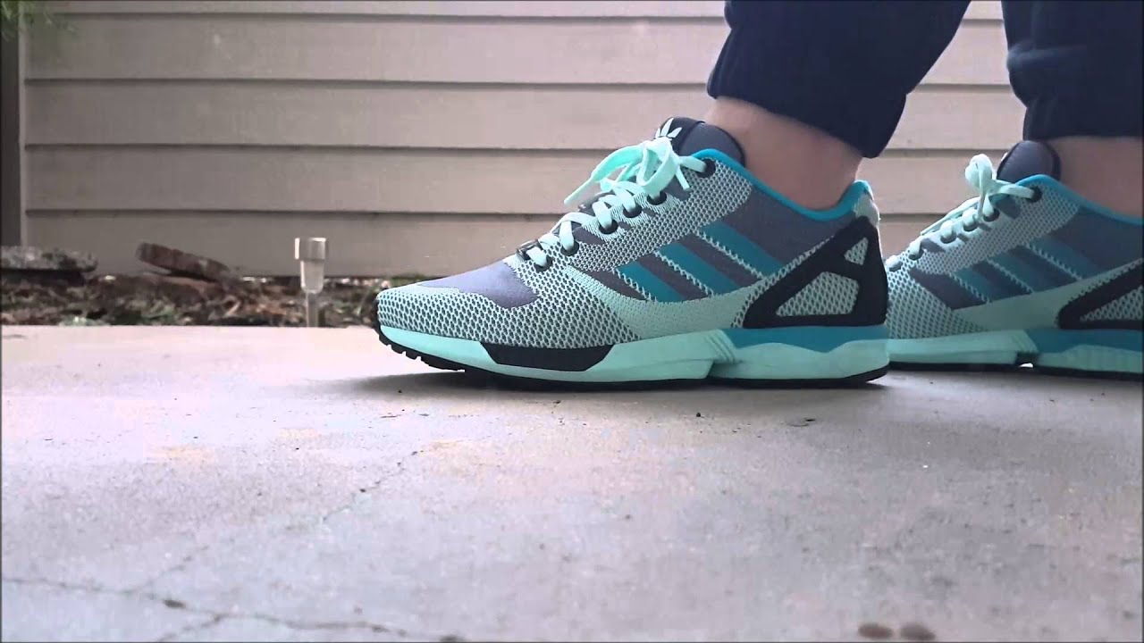 Adidas Zx Flux Grey On Feet