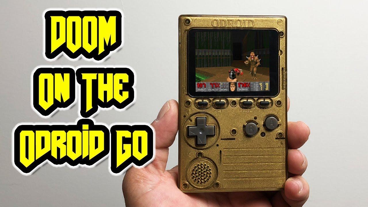 DOOM On The Odroid Go GameBoy Clone - Arcade Punks